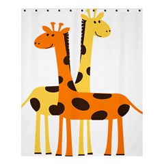 Giraffe Africa Safari Wildlife Shower Curtain 60  X 72  (medium)