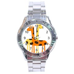 Giraffe Africa Safari Wildlife Stainless Steel Analogue Watch