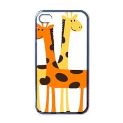 Giraffe Africa Safari Wildlife Apple Iphone 4 Case (black)