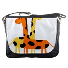 Giraffe Africa Safari Wildlife Messenger Bags