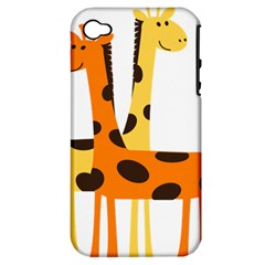 Giraffe Africa Safari Wildlife Apple Iphone 4/4s Hardshell Case (pc+silicone)