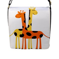 Giraffe Africa Safari Wildlife Flap Messenger Bag (l)