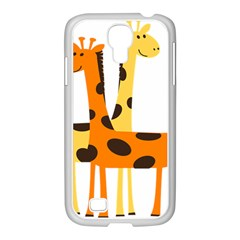 Giraffe Africa Safari Wildlife Samsung Galaxy S4 I9500/ I9505 Case (white)