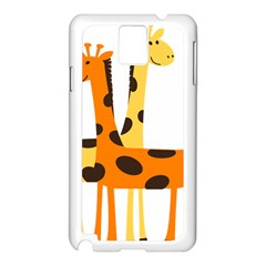 Giraffe Africa Safari Wildlife Samsung Galaxy Note 3 N9005 Case (white)
