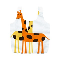 Giraffe Africa Safari Wildlife Full Print Recycle Bags (m)