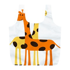 Giraffe Africa Safari Wildlife Full Print Recycle Bags (l)