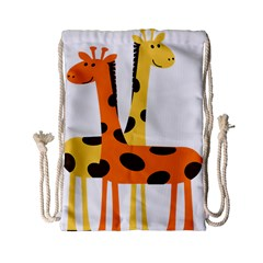 Giraffe Africa Safari Wildlife Drawstring Bag (small)