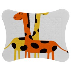 Giraffe Africa Safari Wildlife Jigsaw Puzzle Photo Stand (bow)