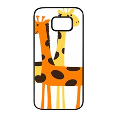 Giraffe Africa Safari Wildlife Samsung Galaxy S7 Edge Black Seamless Case by Nexatart