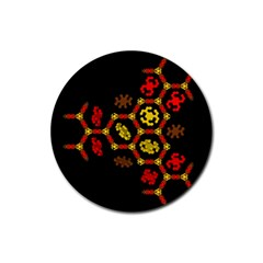Algorithmic Drawings Rubber Round Coaster (4 Pack)