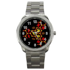 Algorithmic Drawings Sport Metal Watch