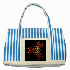 Algorithmic Drawings Striped Blue Tote Bag