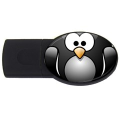 Penguin Birds Aquatic Flightless Usb Flash Drive Oval (2 Gb)