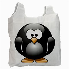 Penguin Birds Aquatic Flightless Recycle Bag (one Side)