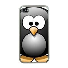 Penguin Birds Aquatic Flightless Apple Iphone 4 Case (clear)