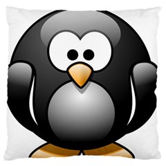 Penguin Birds Aquatic Flightless Standard Flano Cushion Case (one Side)