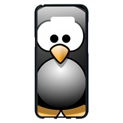 Penguin Birds Aquatic Flightless Samsung Galaxy S8 Plus Black Seamless Case