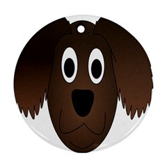 Dog Pup Animal Canine Brown Pet Ornament (round)