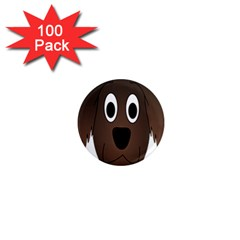 Dog Pup Animal Canine Brown Pet 1  Mini Magnets (100 Pack)