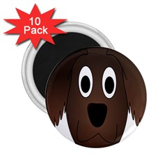 Dog Pup Animal Canine Brown Pet 2 25  Magnets (10 Pack)