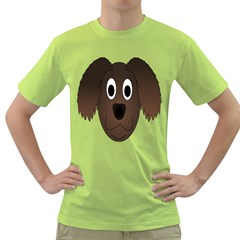 Dog Pup Animal Canine Brown Pet Green T Shirt