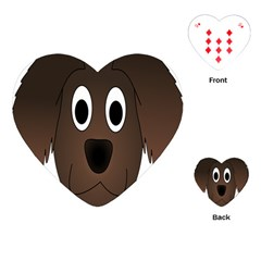 Dog Pup Animal Canine Brown Pet Playing Cards (heart)