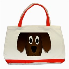Dog Pup Animal Canine Brown Pet Classic Tote Bag (red)