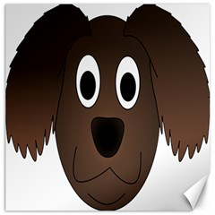 Dog Pup Animal Canine Brown Pet Canvas 12  X 12