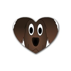 Dog Pup Animal Canine Brown Pet Heart Coaster (4 Pack)
