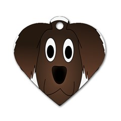 Dog Pup Animal Canine Brown Pet Dog Tag Heart (one Side)