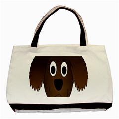 Dog Pup Animal Canine Brown Pet Basic Tote Bag (two Sides)