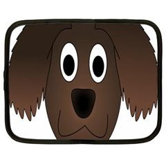 Dog Pup Animal Canine Brown Pet Netbook Case (large)