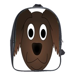 Dog Pup Animal Canine Brown Pet School Bag (large)