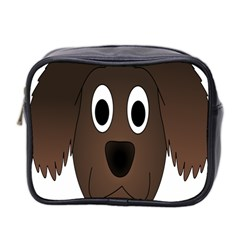 Dog Pup Animal Canine Brown Pet Mini Toiletries Bag 2 Side