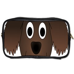Dog Pup Animal Canine Brown Pet Toiletries Bags 2 Side by Nexatart
