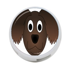 Dog Pup Animal Canine Brown Pet 4 Port Usb Hub (one Side)