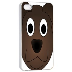 Dog Pup Animal Canine Brown Pet Apple Iphone 4/4s Seamless Case (white)