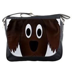 Dog Pup Animal Canine Brown Pet Messenger Bags