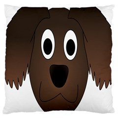 Dog Pup Animal Canine Brown Pet Large Cushion Case (one Side)