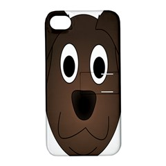 Dog Pup Animal Canine Brown Pet Apple Iphone 4/4s Hardshell Case With Stand