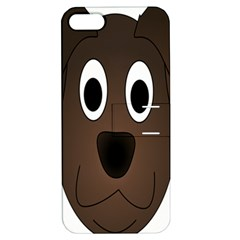 Dog Pup Animal Canine Brown Pet Apple Iphone 5 Hardshell Case With Stand