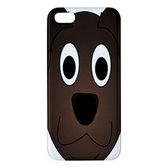 Dog Pup Animal Canine Brown Pet Apple Iphone 5 Premium Hardshell Case