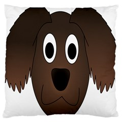 Dog Pup Animal Canine Brown Pet Large Flano Cushion Case (two Sides)