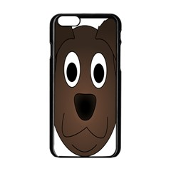 Dog Pup Animal Canine Brown Pet Apple Iphone 6/6s Black Enamel Case