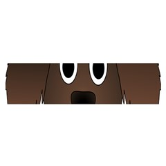 Dog Pup Animal Canine Brown Pet Satin Scarf (oblong)