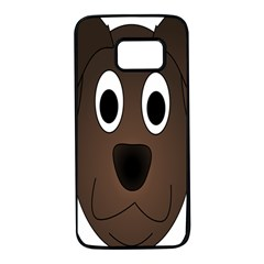Dog Pup Animal Canine Brown Pet Samsung Galaxy S7 Black Seamless Case