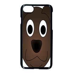 Dog Pup Animal Canine Brown Pet Apple Iphone 7 Seamless Case (black)