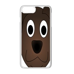 Dog Pup Animal Canine Brown Pet Apple Iphone 8 Plus Seamless Case (white)