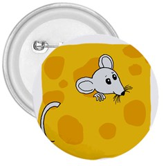 Rat Mouse Cheese Animal Mammal 3  Buttons
