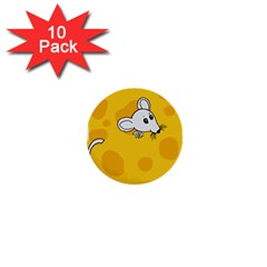 Rat Mouse Cheese Animal Mammal 1  Mini Buttons (10 Pack)